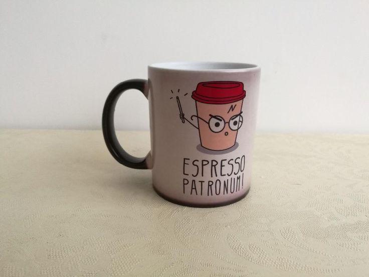 "Harry Potter - ""Espresso Patronum!"" COLOR CHANGING HEAT SENSITIVE Coffee Mug"