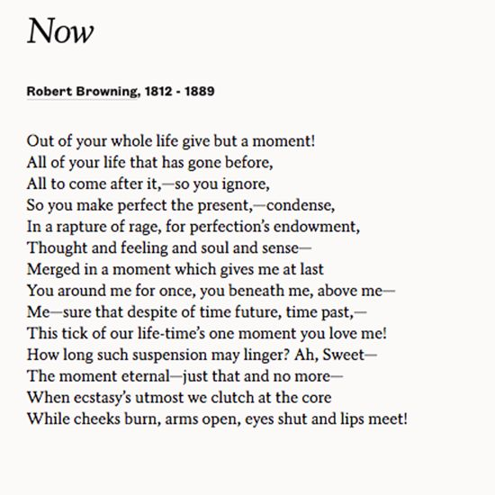 Share Now By Robert Browning To Celebrate Your Wedding Day