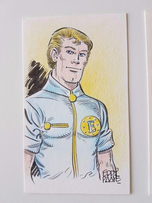 "Paape, Eddy -  original colour drawing - ""Luc Orient"" - W.B."