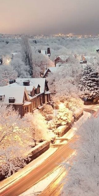 Snowy Dusk In Liverpool, England By Owen Buckley: #travel #england