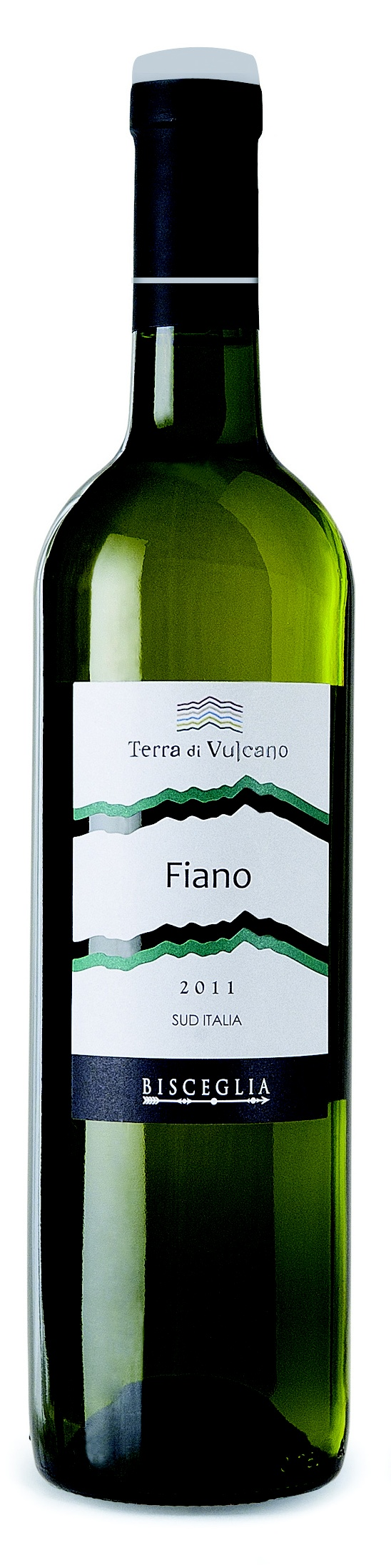 """Terra di Vulcano """"Fiano 2011"""" dal colore giallo intenso con riflessi verdi,al naso è fine ed intenso di salvia e roccia bagnata, con sentori di pompelmo e agrumi."""