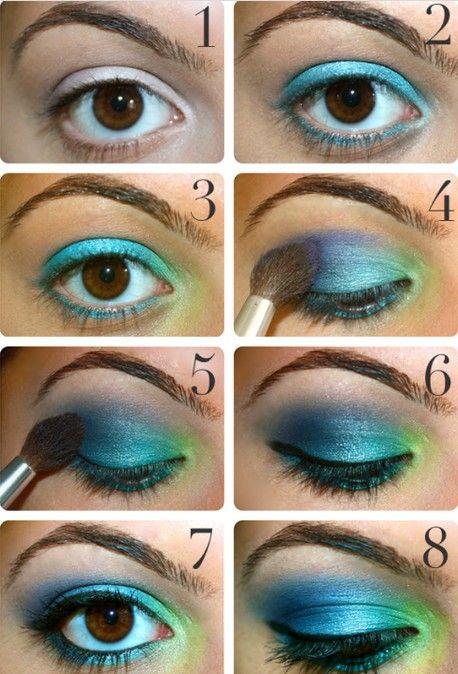 21 Bunte Makeup-Anleitungen für Frauen