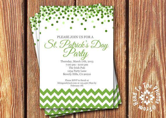 9 best St Patrick\u0027s Day Invitations images on Pinterest Patrick o