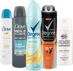 FREE Dove, Degree, or Axe Dry Spray Deodorant Sample - http://freebiefresh.com/free-dove-degree-or-axe-dry-spray-deodorant-sample/