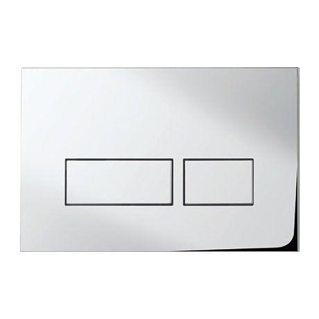 £37, Bauhaus - Tempo Dual Flush Plate TEFLUSHC - Chrome