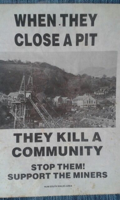 A small poster from the miners strike of 1984-5. The pit is Abercynon Colliery South Wales.