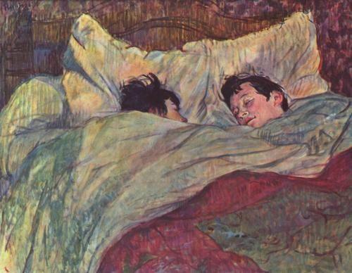Dans le lit (In bed) - Henri De Toulouse Lautrec