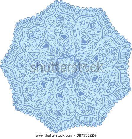 Mandala style illustration of flowers set on isolated white background.   #flowers #mandala #illustration