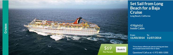 $69 Baja Cruise Leaving from Long Beach, CA ---> www.rovingkatana.com - to get this price!