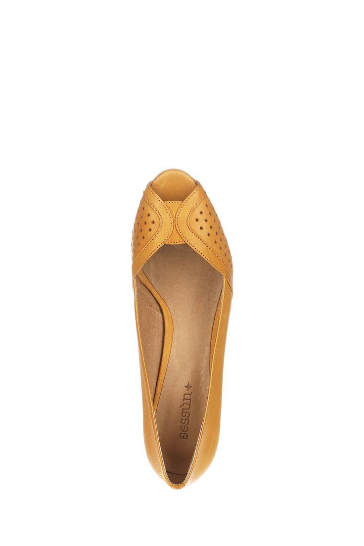 Escarpins bout ouvert jaune Totem Miel Sessun sur MonShowroom.com
