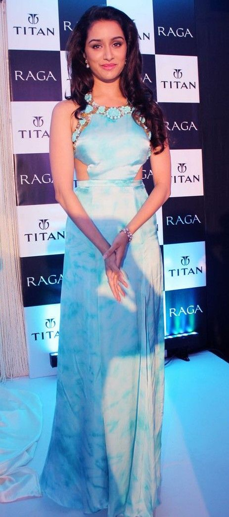 Yay or Nay? This pastel blue cutoff gown that Shraddha Kapoor is wearing
