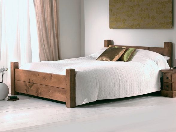 solid wood bed is flexible for any form of house style - Solid Wood Bed Frame