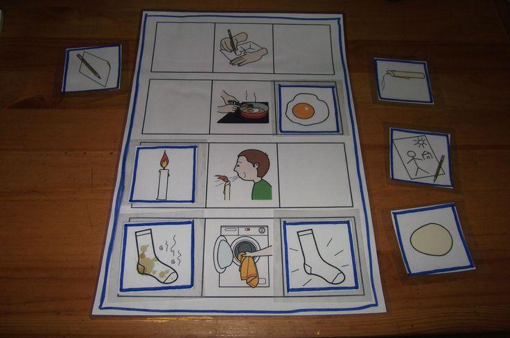 Voici un super jeu d'images sequentielles, dans lequel l'enfant doit replacer les images qui viennent avant et apres. Je l'ai deniché sur le...