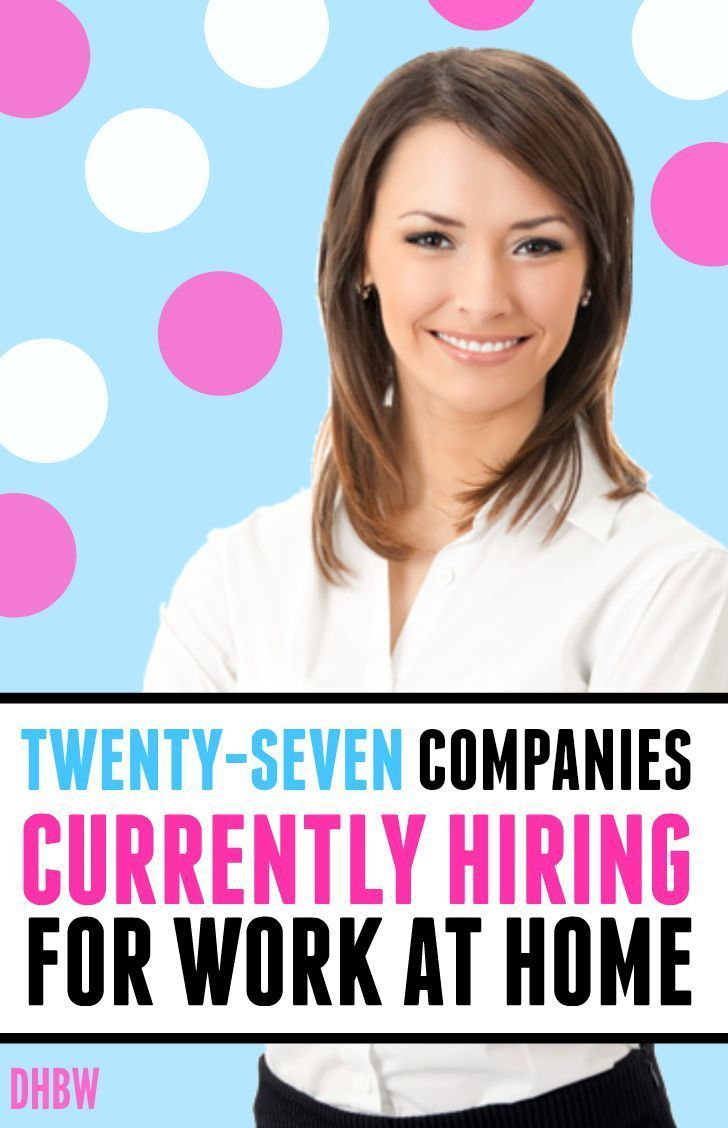 List of 27 Companies Currently Offering Work at Home Jobs - Dream Home Based Work