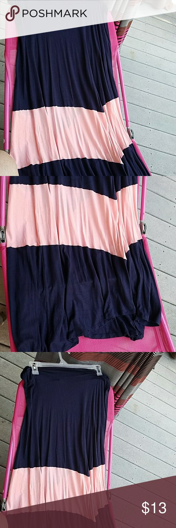 Navy and peach maxi skirt. Large. Like New Bought off poshmark. Never worn fits true to a large Alyx Skirts Maxi