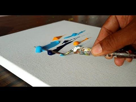 Beautiful Abstract Painting / Easy / Very Satisfactory / Demonstration / Project 365 days / Day No. 0225 – YouTube