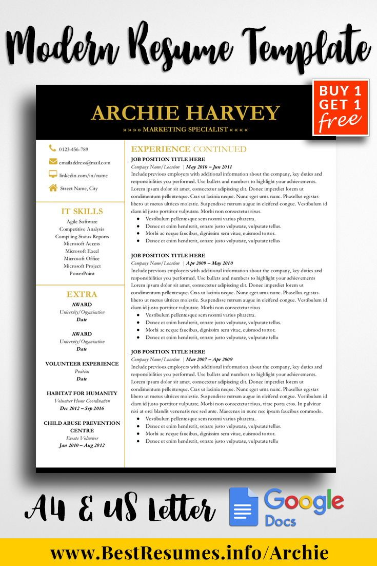 resume template archie harvey resume templates inspiration and