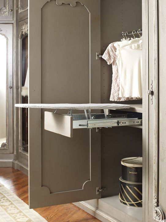Habersham Dressing Room Ironing Board Feature