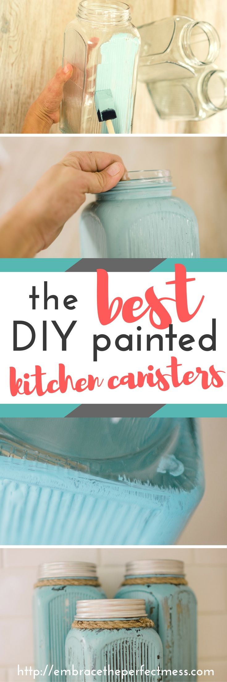 best 25 kitchen canisters and jars ideas on pinterest country diy painted kitchen canisters