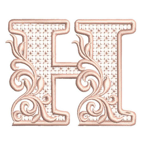 Buchstabe Letter H Block Fonts Decorative Letters Fancy