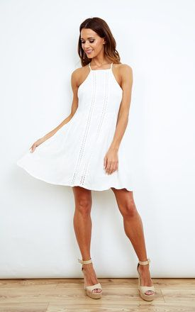 White Swing Dress - SilkFred