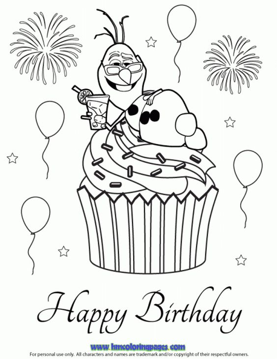 elsa coloring pages images cupcake - photo#3