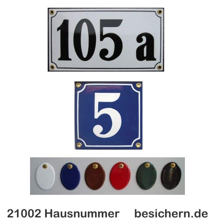 Hausnummer Emaille nach altem Vorbild in Handarbeit gefertigt