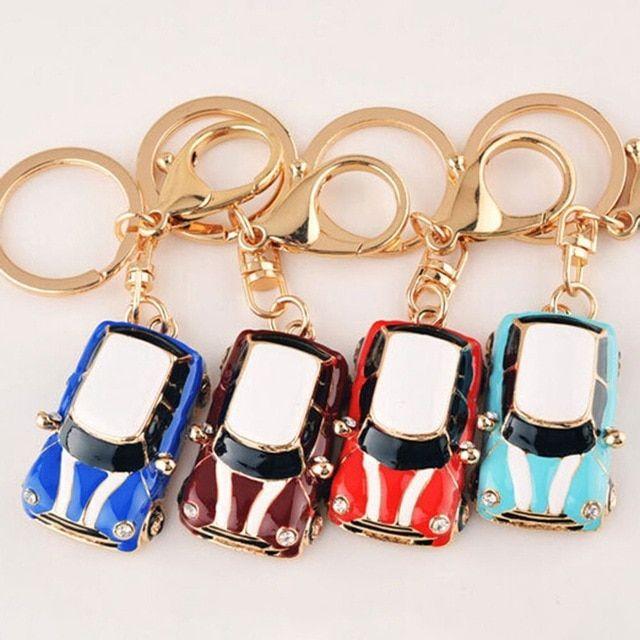 0fdbf606ce High Quality Car Alloy Keychain Keyring Pendant Car Model Key Chain Ring  Holder For Mini Cooper