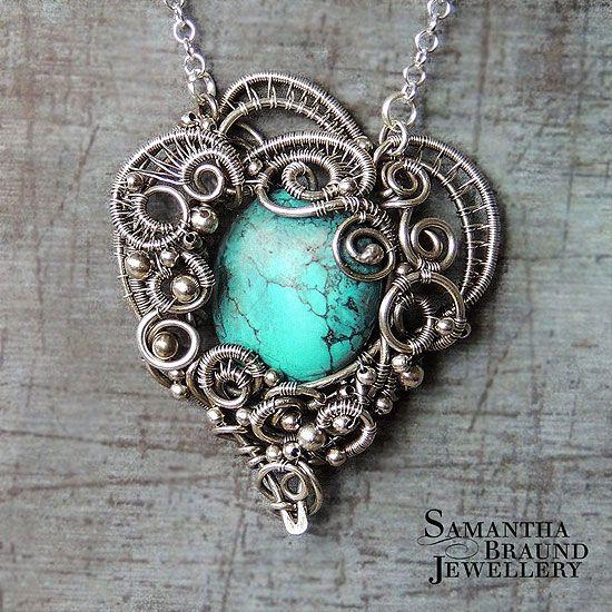 Samantha Braund Jewellery: Turquoise Mermaid Amulet