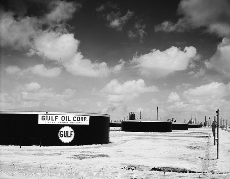 1956 Gulf Oil Corp. Tank Farm - Port Arthur Refinery. Port Arthur, Texas