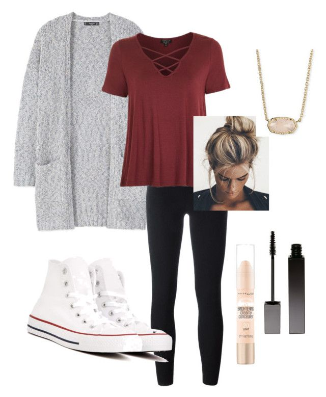 """""""Lazy days"""" by emmaleighkate on Polyvore featuring MANGO, adidas Originals, Topshop, Converse, Serge Lutens, Maybelline and Kendra Scott"""