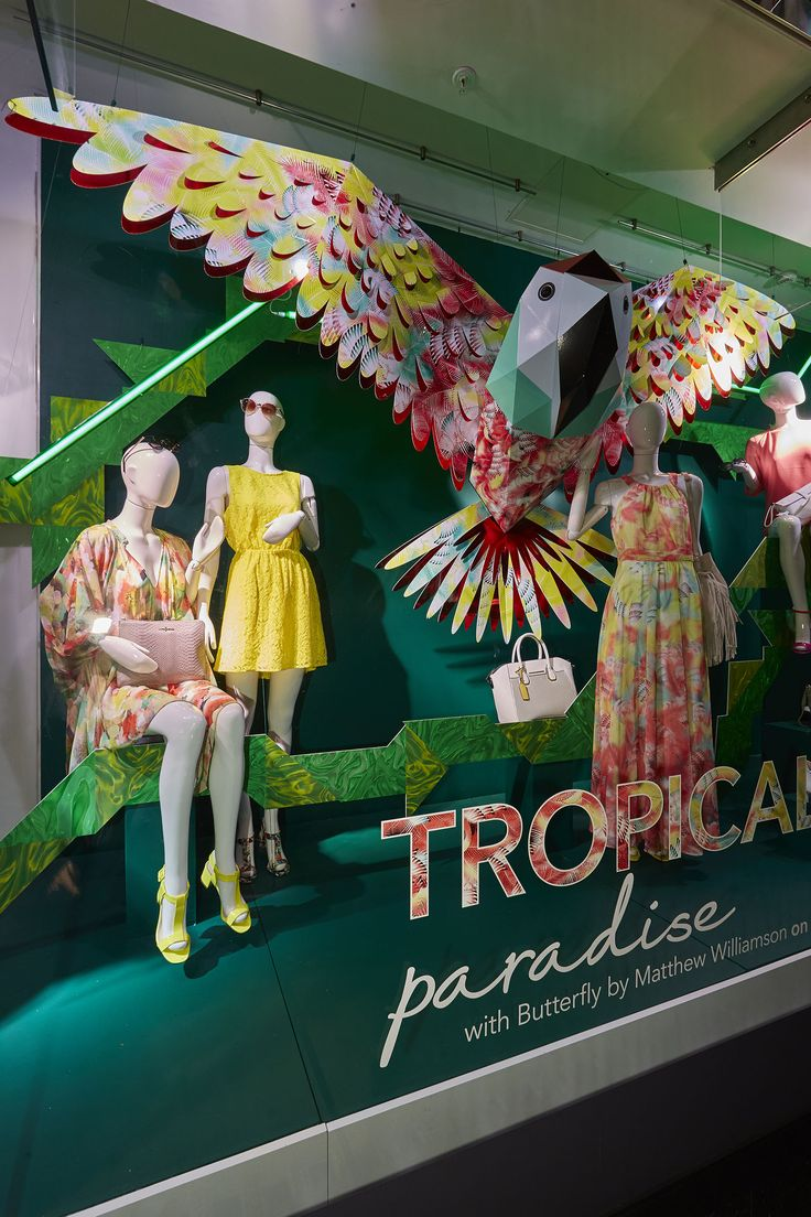 Debenhams summer window display
