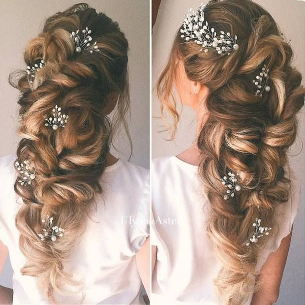 Wedding Updo Hairstyles for Long Hair from Ulyana Aster_20 ❤ See more: http://www.deerpearlflowers.com/wedding-updo-hairstyles-for-long-hair-from-ulyana-aster/2/