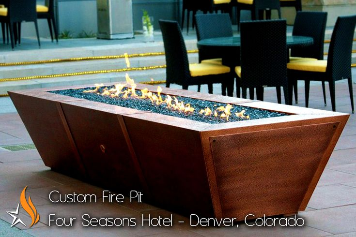 10 ft Long Copper Fire Pit.  Holds up to six LP tanks!
