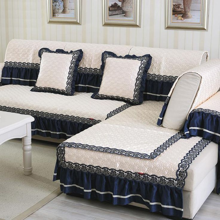 Aliexpress.com : Buy European style cream white cloth sofa cover lace patchwork quilting slipcovers canape for sectional sofa SP2937 FREE SHIPPING from Reliable canapes suppliers on Sproat Textile Factory Outlet