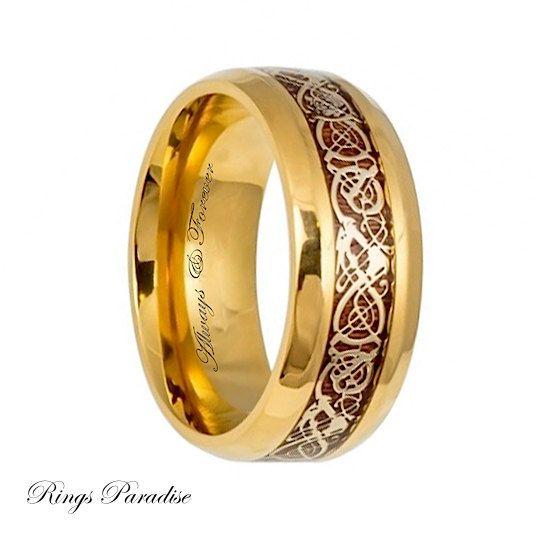 Titanium Ring Mens Titanium Wedding Band Titanium by RingsParadise