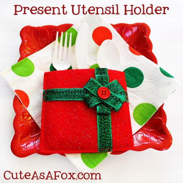 Cute As a Fox: Christmas Present Utensil Holder