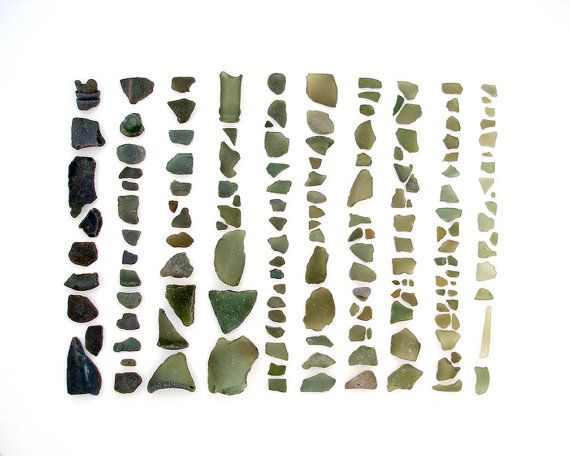 Seaglass Spectrum: Olive Green  8 x 10 by QuercusDesign on Etsy