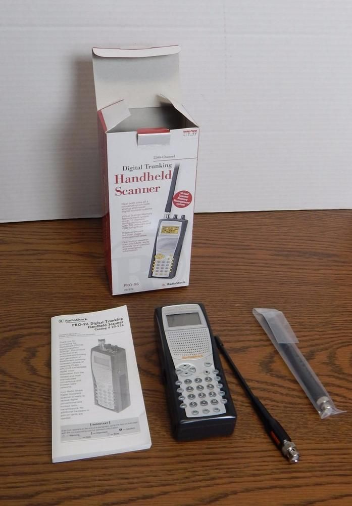 Radio Shack Digital Trunking Handheld Scanner Pro-96 #RadioShack