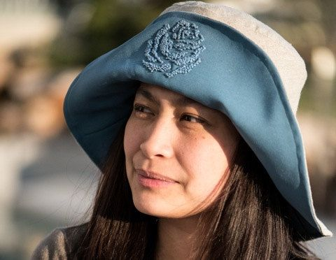 Blue Rose Hat by MaraGirone on Etsy