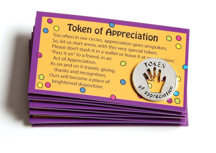 Amazon.com : Tokens of Appreciation and Cards (set of 10 ...