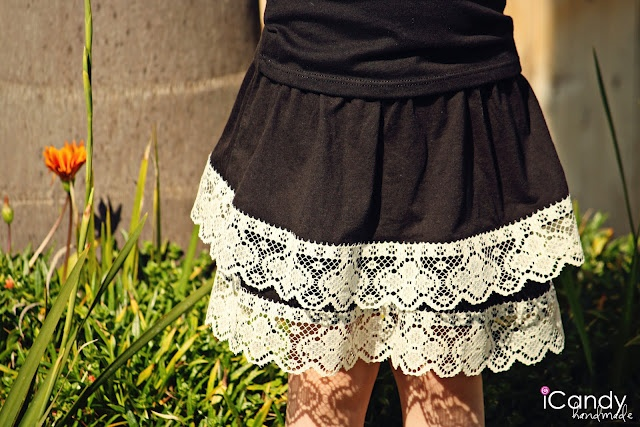 Sew lace to a store bought skirt to dress it up: Spring Chick, Shorts, Refashion Skirts, Lacey Skirts, Black Skirts, Chick Skirts Lac, Walmart, Lace Skirts, Add Lace To Dresses