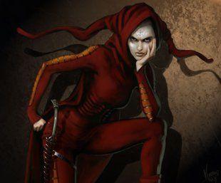 fantasy jester illustration woman