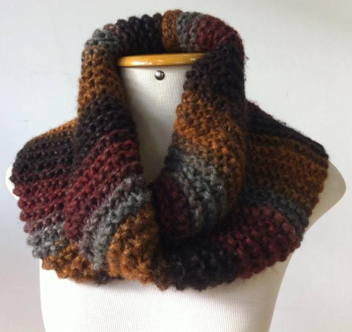 Gola em tricô com a lã Quebec da Cisne
