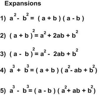 BASIC EXPANSION OF ALGEBRAIC EXPRESSIONS - FOR CHILDREN