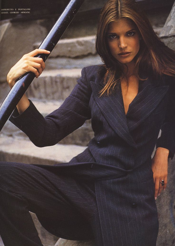 Stephanie Seymour //  by Sante D'Orazio | For Vogue Magazine Italy | Vogue, 1992
