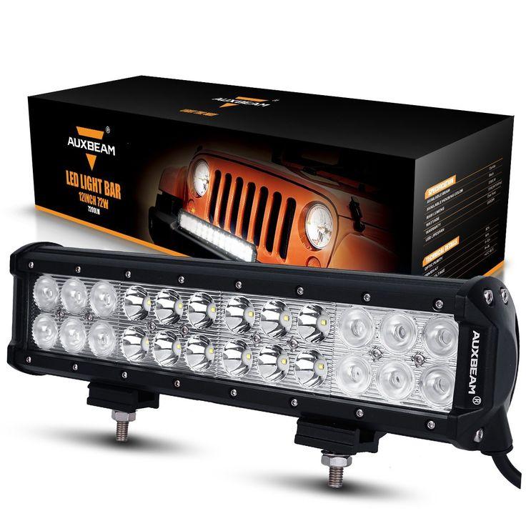 16 best top 10 best off road led light bars reviews 2017 images on amazon auxbeam 12 72w led light bar 7200lm combo beams 24pcs 3w aloadofball Images