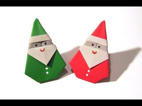 Origami Christmas Santa Claus - How to fold an Origami Santa Claus - YouTube