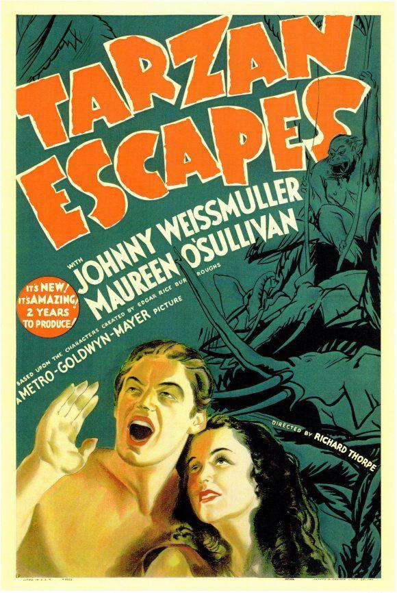 Tarzan Escapes starring Johnny Weissmuller and Maureen O'Sullivan