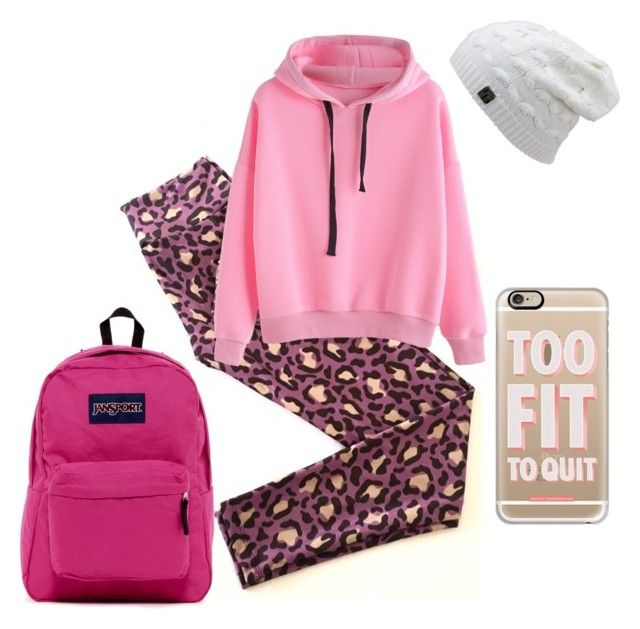 Violetiger by tomazarango on Polyvore featuring polyvore, fashion, style, JanSport, Casetify and clothing
